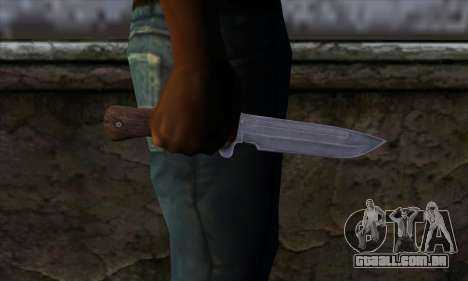 Daryl Knife from The Walking Dead para GTA San Andreas terceira tela