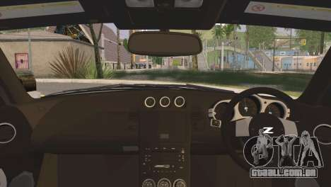 Nissan 350Z CAMBERGANG para GTA San Andreas traseira esquerda vista