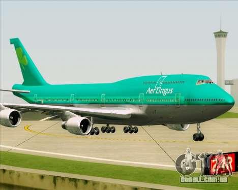 Boeing 747-400 Aer Lingus para GTA San Andreas vista traseira