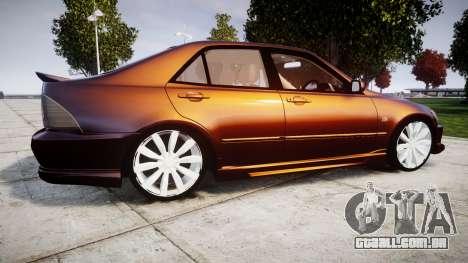 Toyota Altezza para GTA 4 esquerda vista