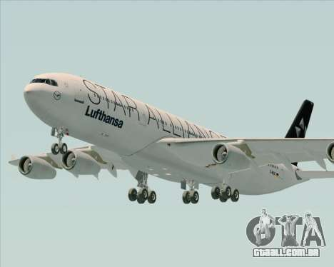 Airbus A340-300 Lufthansa (Star Alliance Livery) para vista lateral GTA San Andreas