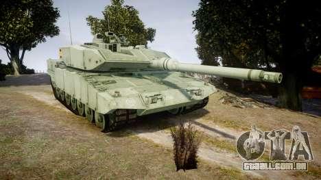 Leopard 2A7 ES Green para GTA 4