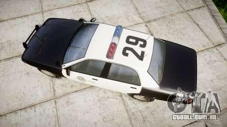 GTA V Vapid Police Cruiser Rotor para GTA 4 vista direita