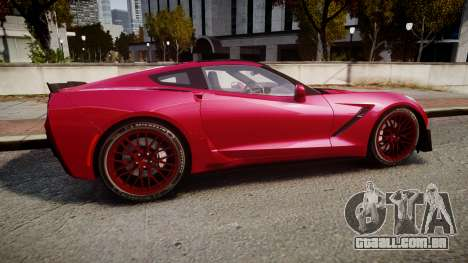 Chevrolet Corvette Z06 2015 TireMi2 para GTA 4 esquerda vista
