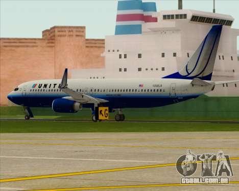 Boeing 737-800 United Airlines para GTA San Andreas vista direita