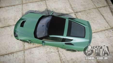 Chevrolet Corvette C7 Stingray 2014 v2.0 TireMi3 para GTA 4 vista direita