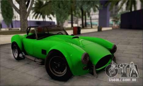 Shelby Cobra V10 TT Black Revel para GTA San Andreas vista interior