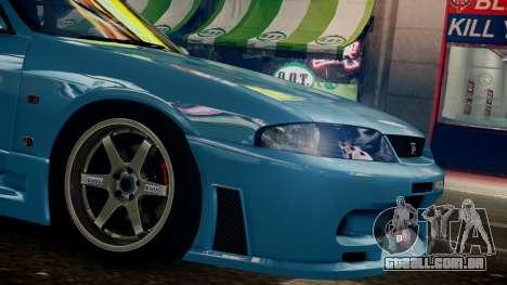 Nissan Skyline BCNR33 JUN VER para GTA 4 traseira esquerda vista