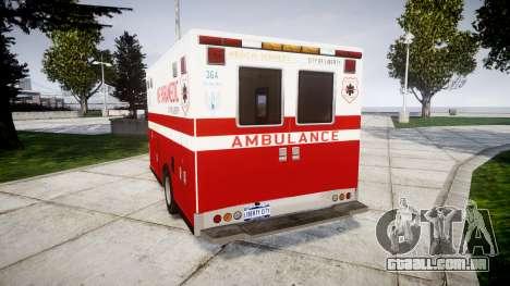 Brute V-240 Ambulance [ELS] para GTA 4 traseira esquerda vista