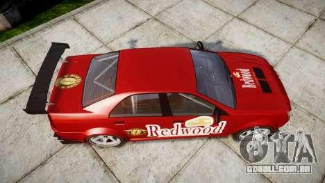 Albany Presidente Racer [retexture] Redwood para GTA 4 vista direita