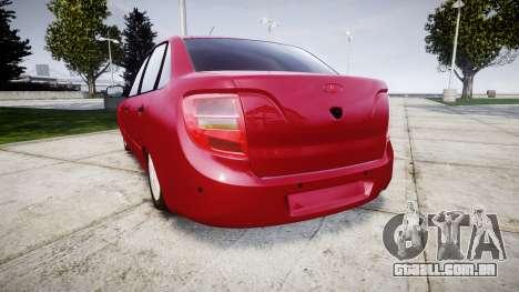 VAZ 2190 para GTA 4 traseira esquerda vista