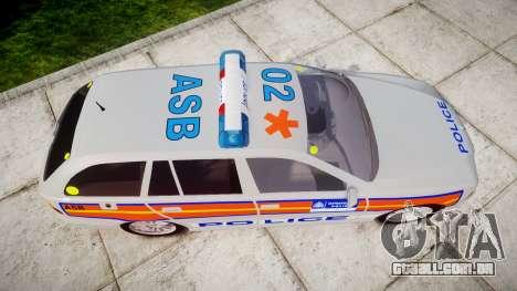 BMW 525i E39 Touring Police [ELS] JSARVV para GTA 4 vista direita