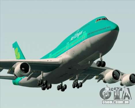 Boeing 747-400 Aer Lingus para o motor de GTA San Andreas