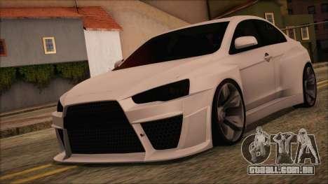Mitsubishi Lancer Evolution X HD SHDru tuning v1 para GTA San Andreas