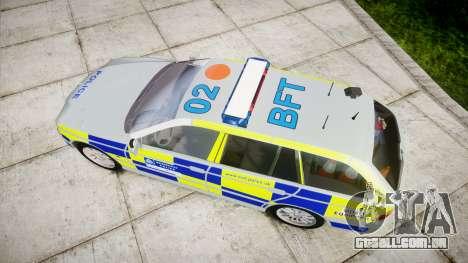 BMW 525i E39 Touring Police [ELS] BTV para GTA 4 vista direita