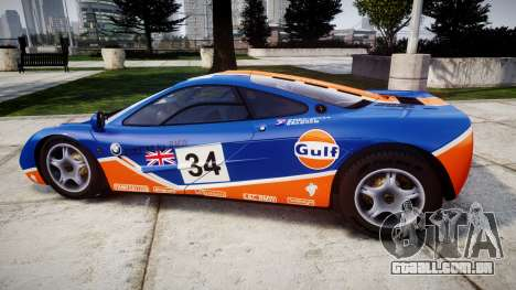 McLaren F1 1993 [EPM] Gulf 34 para GTA 4 esquerda vista