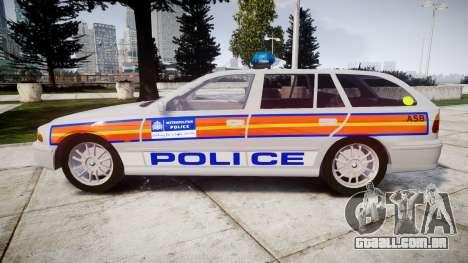 BMW 525i E39 Touring Police [ELS] JSARVV para GTA 4 esquerda vista