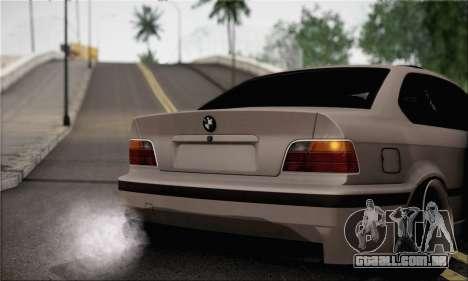 BMW M3 E36 Bosnia Stance para GTA San Andreas traseira esquerda vista