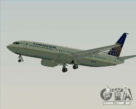 Boeing 737-800 Continental Airlines para GTA San Andreas