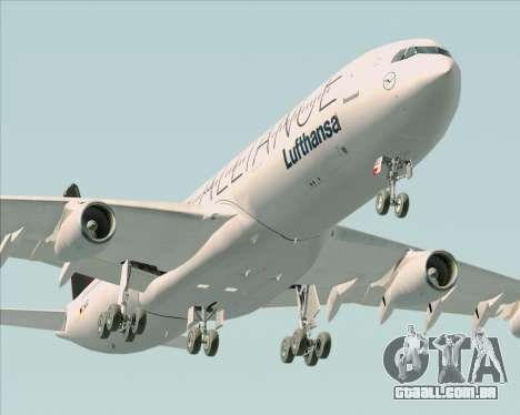 Airbus A340-300 Lufthansa (Star Alliance Livery) para o motor de GTA San Andreas