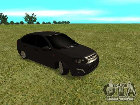 Lada Granta Kalina 2 para GTA San Andreas esquerda vista
