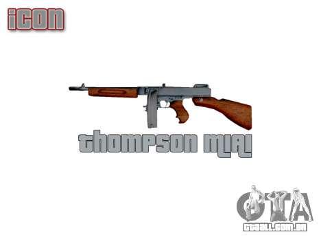 Submetralhadora Thompson M1A1 tambor icon3 para GTA 4 terceira tela