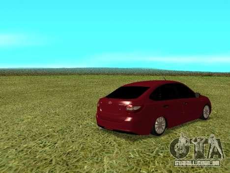 Lada Granta Kalina 2 para GTA San Andreas vista direita