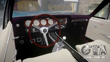 Pontiac GTO 1965 Flames para GTA 4 vista de volta