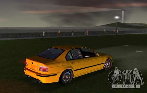 BMW M5 E39 para GTA Vice City vista traseira