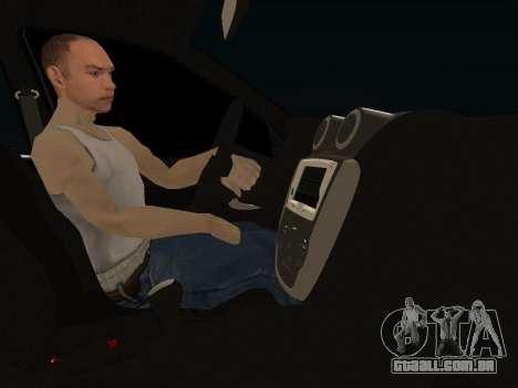 Lada Granta Kalina 2 para GTA San Andreas vista interior