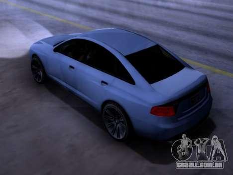 Obey Tailgater GTA V para GTA San Andreas esquerda vista