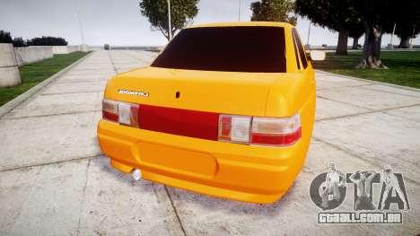 ВАЗ-2110 Bogdan rims1 para GTA 4 traseira esquerda vista