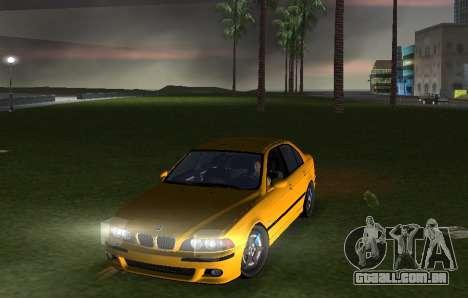BMW M5 E39 para GTA Vice City vista direita