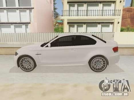 BMW 1M 2011 para GTA San Andreas vista traseira