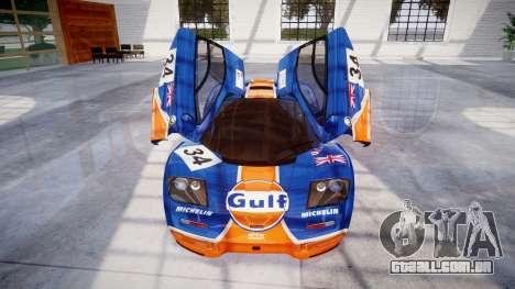 McLaren F1 1993 [EPM] Gulf 34 para GTA 4 vista inferior