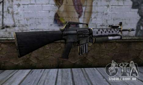 M4 from Call of Duty: Black Ops v2 para GTA San Andreas segunda tela