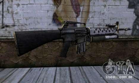 M4 from Call of Duty: Black Ops v2 para GTA San Andreas segunda tela