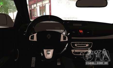 Renault Megane para GTA San Andreas traseira esquerda vista