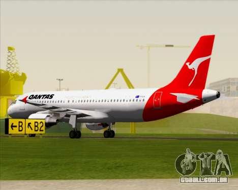 Airbus A320-200 Qantas para GTA San Andreas vista superior