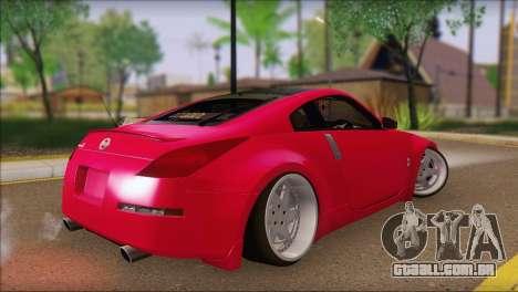 Nissan 350Z CAMBERGANG para GTA San Andreas esquerda vista