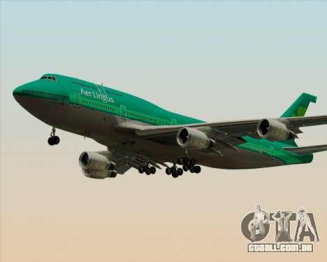 Boeing 747-400 Aer Lingus para as rodas de GTA San Andreas