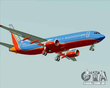 Boeing 737-800 Southwest Airlines para GTA San Andreas vista superior