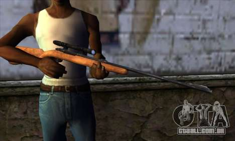 Sniper Rifle from The Walking Dead para GTA San Andreas terceira tela