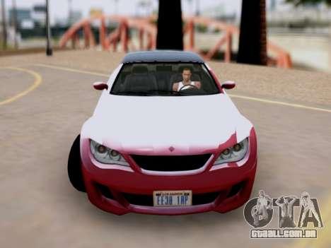 A superioridade de Sião convertíveis em GTA V para GTA San Andreas traseira esquerda vista