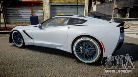 Chevrolet Corvette Z06 2015 TireMi3 para GTA 4 esquerda vista