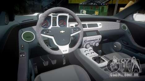 Chevrolet Camaro Z28 2014 para GTA 4 vista de volta