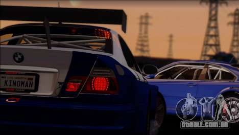 BMW M3 E46 GTR para vista lateral GTA San Andreas