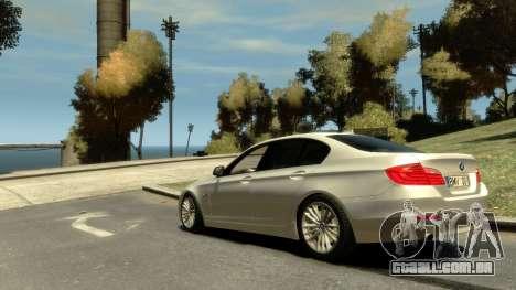 BMW 525 F10 para GTA 4 esquerda vista