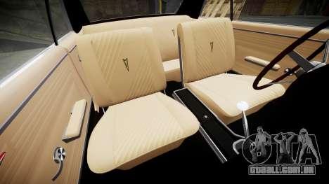 Pontiac GTO 1965 Flames para GTA 4 vista interior