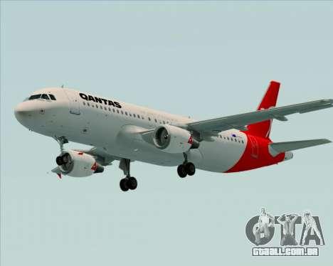 Airbus A320-200 Qantas para GTA San Andreas vista inferior